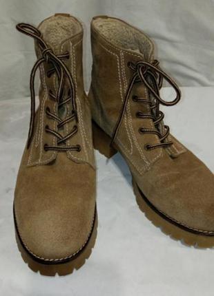 Замшевые ботинки германия belmondo