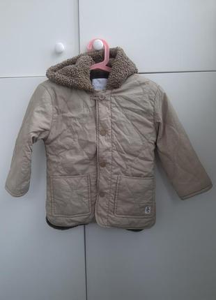 Куртка zara 3-4 стеганая