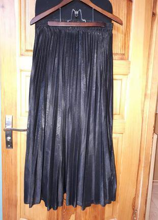 Шикарная юбка плиссе на осень shein в размере xxl