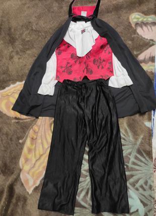 Карнавальный костюм дракула вампир на 5-6лет