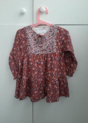 Красивое платье zara 3-4 года