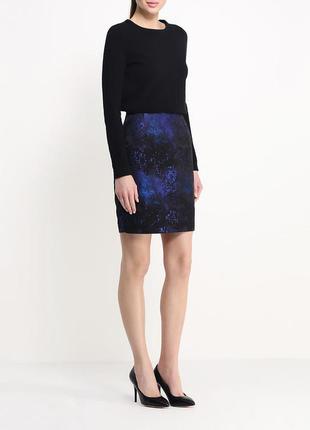 Космическая фактурная необычная юбка карандаш маленький размер