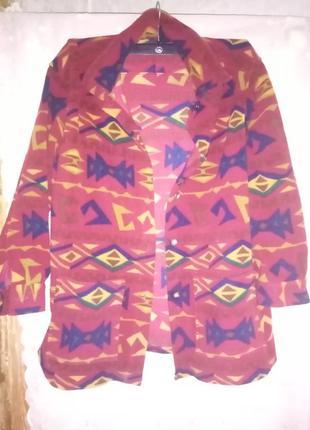 Флисовая курточка-рубашка