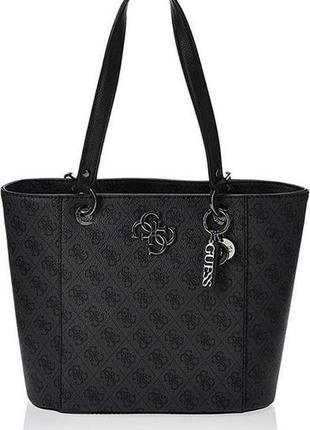 Жіноча шкіряна брендова сумка шоппер guess