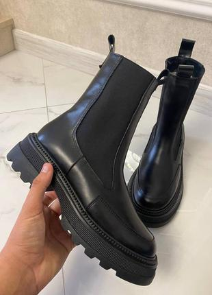Ботинки под отшив натуральная кожа