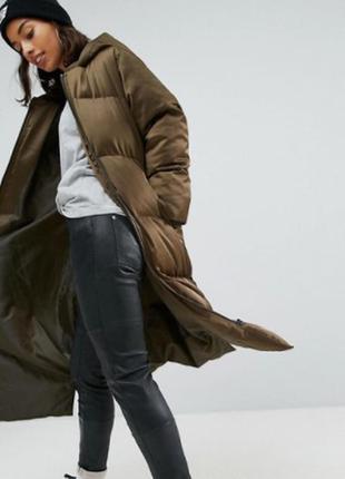 Зимняя шикарная длинная дутая куртка asos