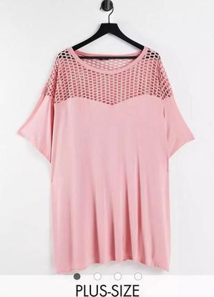 Женская розовая футболка размер 48 // 4xl yours
