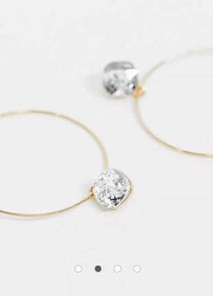 Сережки кільця з підвіскою, серьги кольца с подвеской от french connection с сайта asos