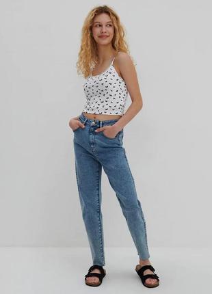 Джинсы mom fit від house, джинси мам як zara