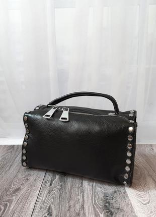 🔥polina & eiterou🔥женская сумка, кожанная женская сумка, черная женская сумка