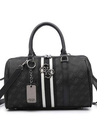 Жіноча шкіряна ручна брендова сумка guess