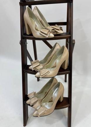 Дизайнерские туфли олимпия с бантом кожа натуральная