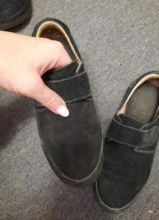 Туфли  мокасины  замшевые