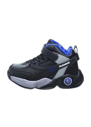 Ботинки детские tom m. черные на липучках b-549