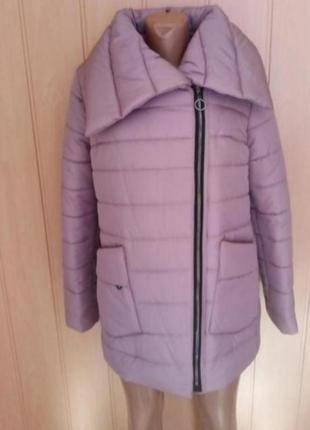 Теплая зимняя стеганая куртка курточка пальто пуховик зефирка
