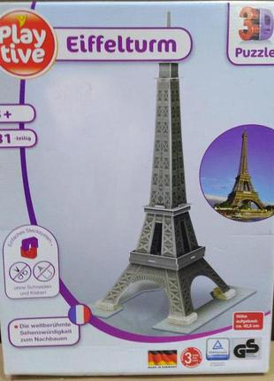 Пазл 3d playtive  эйфелева башня набор из 31 элемента
