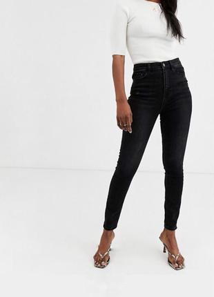Скинни джинсы высокая посадка талия мом skinny