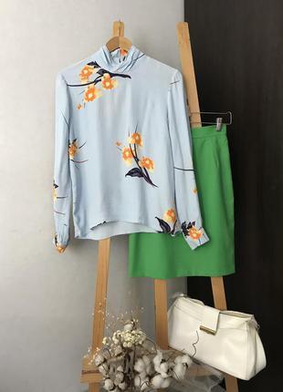 Ніжна блуза в принт віскоза