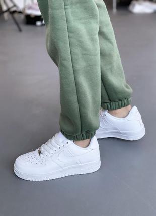 Кроссовки белые air force кожаные