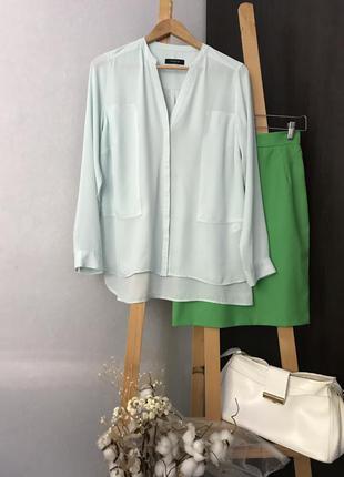 Шифонова мятна блуза