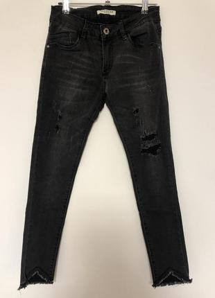 Очень стильные джинсы skinny укороченые