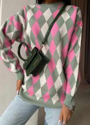 Трендовый пуловер женский джемпер свитер кофта