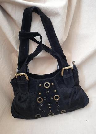#7. бомбезная женская чёрная сумка распродажа уценка