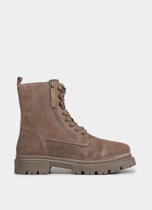 Оригінальні замшеві черевики braska / оригинальные женские ботинки браска в коричневом цвете