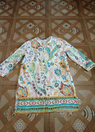Блуза туника коттон 36 s