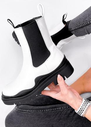 Челси белые ботинки распродажа