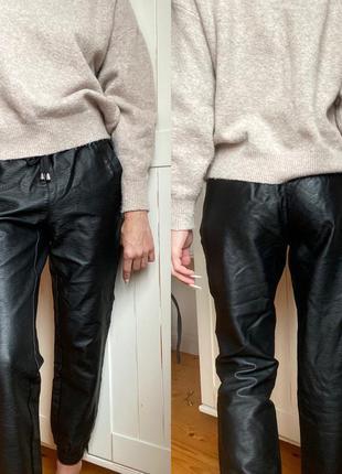 Фирменные кожаные штаны mandarin (спортивные прогулочные)