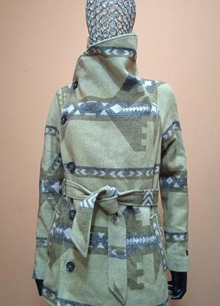 Esprit italy стильное полу пальто шерсть