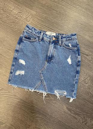 Джинсовая юбка new look 134 см