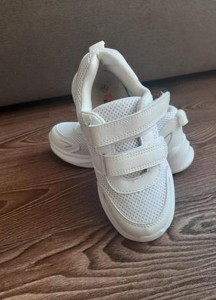 Детские белые кроссовки для девочки 31-32 jong-golf