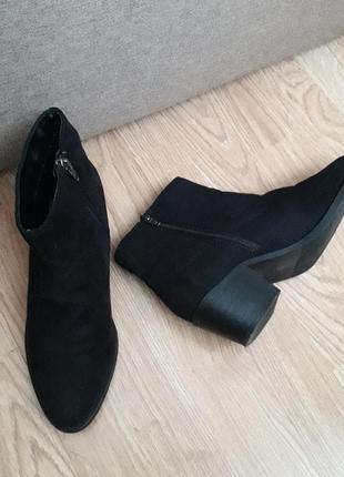 Ботильоны🔥р.38(24.5см) стан ідеальний next еко замш весна осень ботинки  черевики ботильйони  напів чоботи