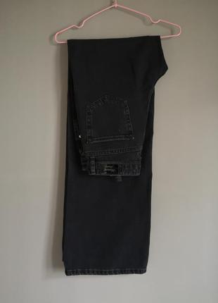 Джинсы кюлоты прямого кроя в пол на высокой посадке джинси