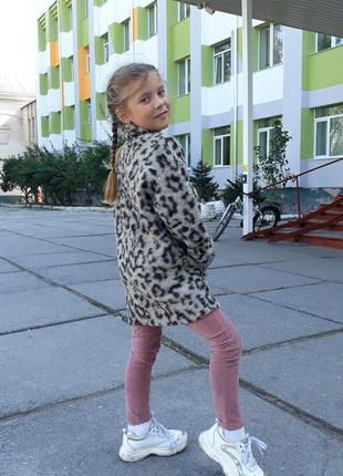 Модное шертяное пальто zara рост 122-128