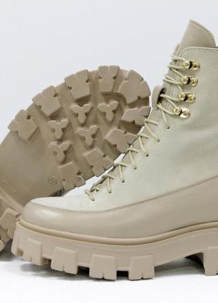 Кожаные +замша женские ботинки берцы в любом цвете!