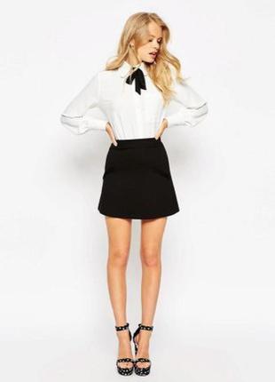 Базовая черная юбка трапеция