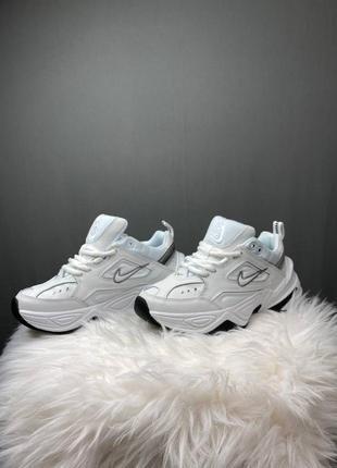 Женские белые кроссовки nike m2k tekno white / найк