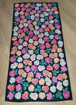 Роскошный фирменный палантин шарф из натурального шелка