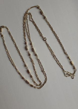 Цепочка,ожерелье в металле золотого цвета