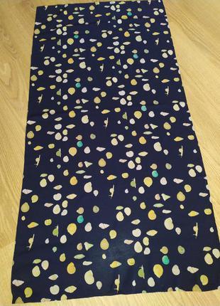 Фирменный шарф палантин из натурального шелка, ракушки