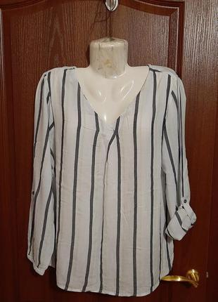 Блузка в полосочку размера 50-52.