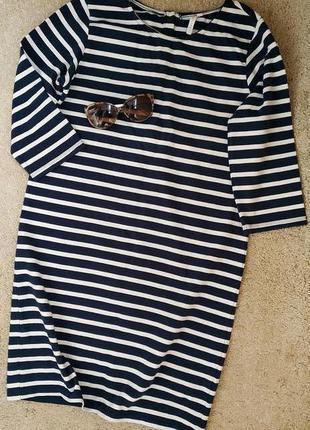 Costes платье свитшот свободного кроя/ актуальное платье тельняшка