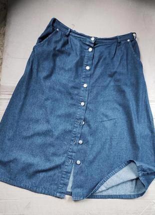 Юбка джинсовая на пуговицах uk18
