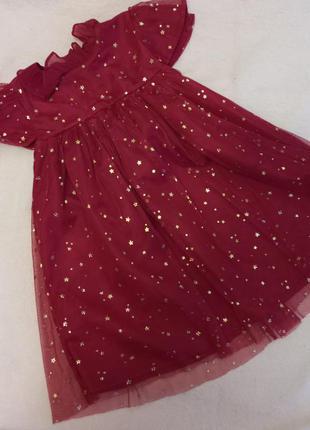 Красивое нарядное праздничное платье девочке звезды 3-4 года