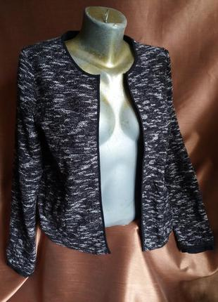 Кардиган пиджак без пуговиц и застёжек