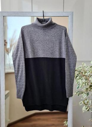 Шерстяной кашемировый свитер гольф водолазка  🌺