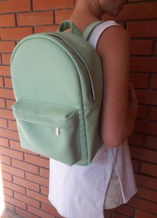 Женский школьный мятный вместительный рюкзак для девушки